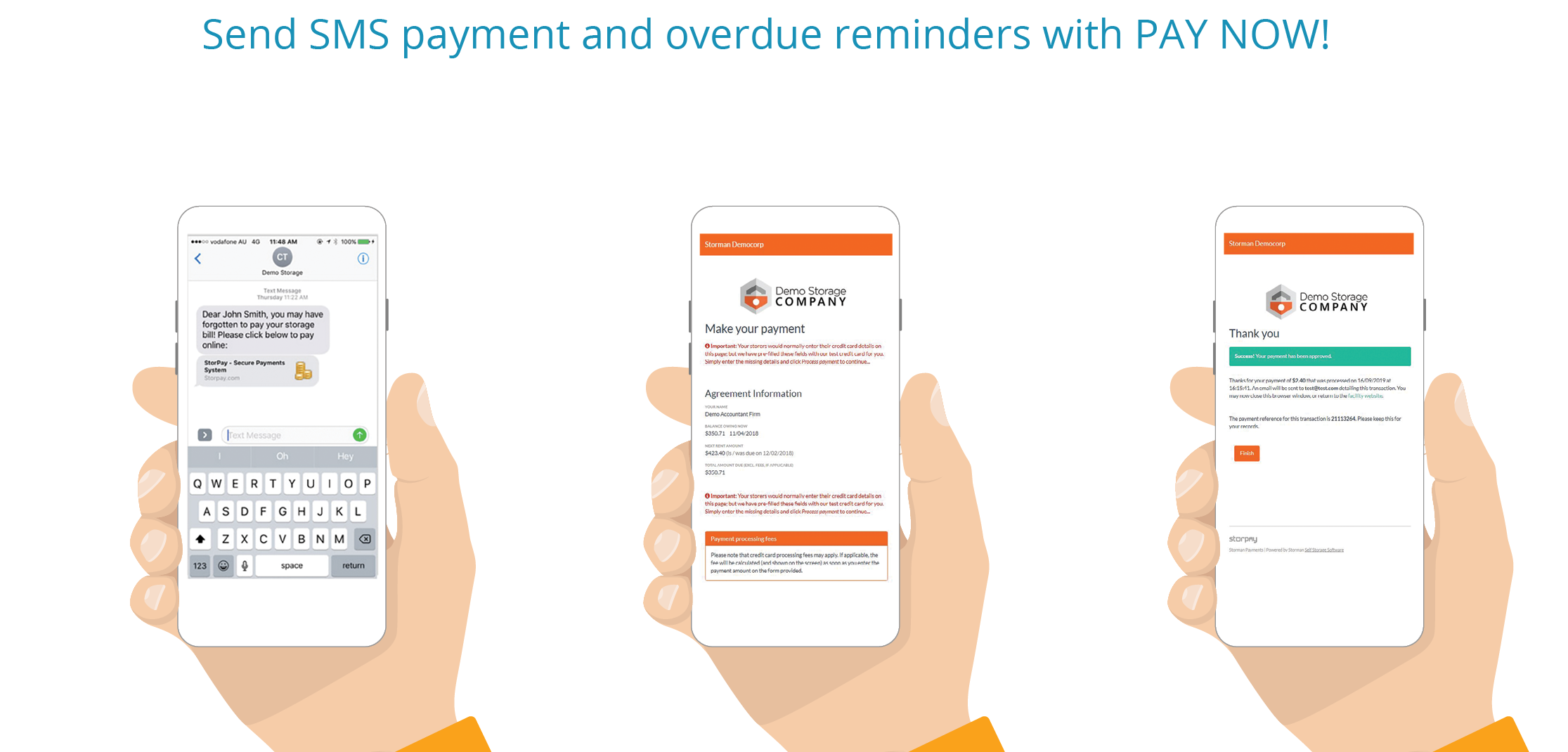 Storman SMS and payments